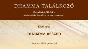 Gambhíró Bhikkhu Dhamma beszéde megtekinthető – ajánló